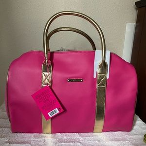 Juicy Couture Duffel Weekender Pink New Gold Gym